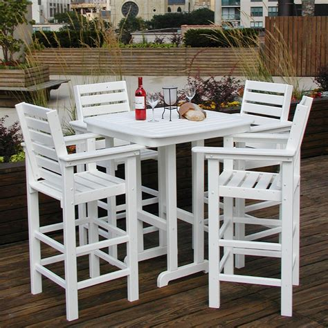 polywood captain  pc recycled plastic bar height dining