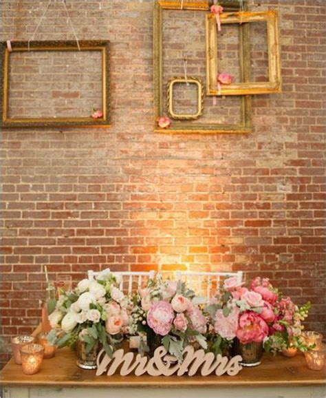 Wedding Banquet Backdrop by Brick Wall Backdrop Wedding Reception Backdrops Via Http
