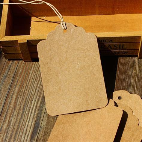 Hang Tag 4 X 8 Cm big size 12x8cm vintage kraft blank price hang tag retro kraft gift tag paper tag 100pcs lot in