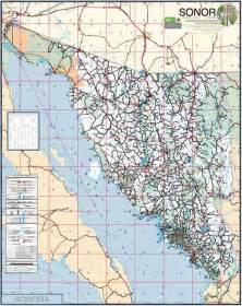 sonora map roadmap of sonora mexico sonora