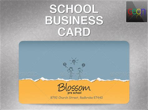 school business card templates 21 education business card templates free psd vector designs
