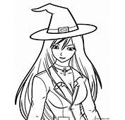 Download Coloring Pages Halloween Witches