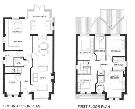 house plans two story with basement best of five bedroom