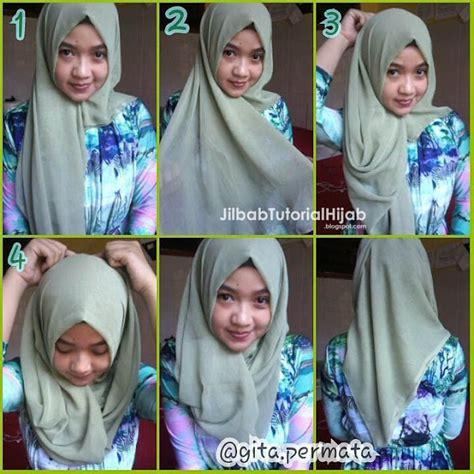 tutorial jilbab segi empat untuk wisuda 6 tutorial hijab segi empat sederhana jilbab tutorial hijab