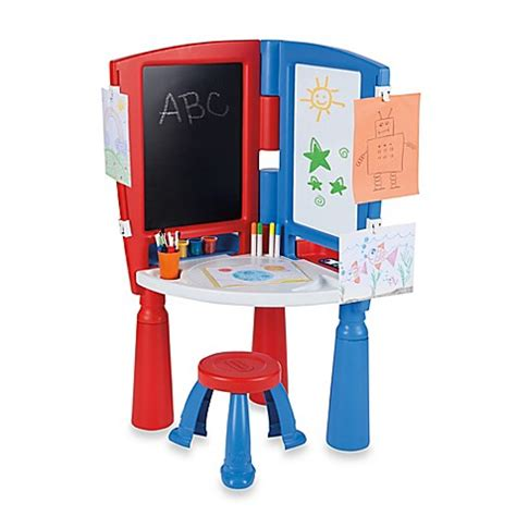 tikes desk and easel buy tikes 174 kick start desk and easel from bed