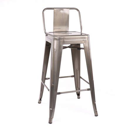 Gunmetal Counter Stools With Back by Dreux Gunmetal Low Back Steel Counter Stool 26 Inch Set