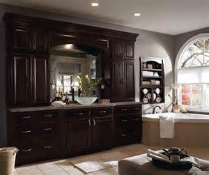 Floating Cabinets Kitchen Dark Wood Cabinets In Traditional Bathroom Diamond