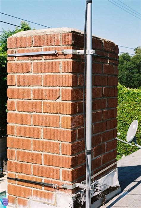 Chimney Mount Antenna Straps - stick it in your ventpipe