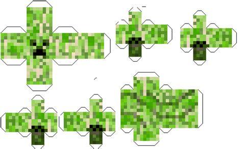 Creeper Minecraft Papercraft - creeper minecraft papercraft brown hairs