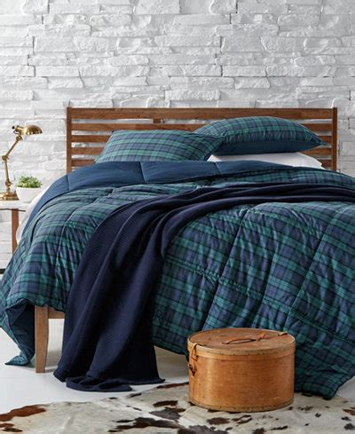 ralph lauren down comforter plaid lauren ralph lauren blackwatch yarn dyed plaid bedding