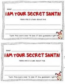 secret santa label template 1000 ideas about secret santa on santa