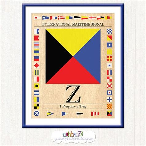 printable classic alphabet banner pennants vintage international maritime code signal flag i