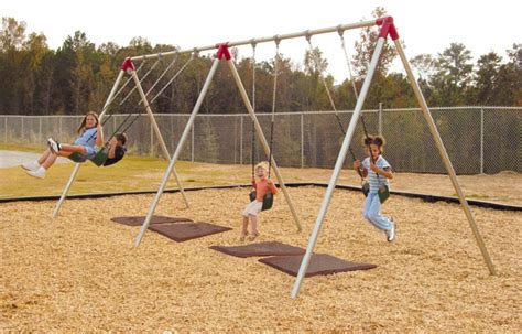 play ground swings standard commercial swing set heavy duty steel construction