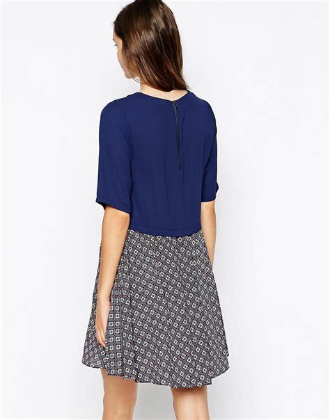 swing skirt dress warehouse warehouse geo skirt swing dress with 3 4