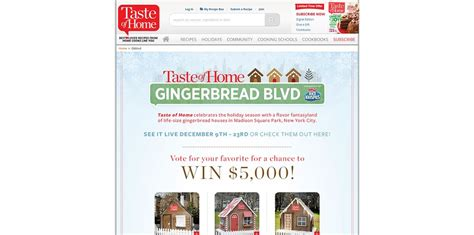 taste of home gingerbread blvd giveaway vote and win 5 000 - Taste Of Home Sweepstakes