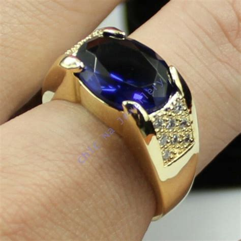 size  nice jewelry mens sapphire kt yellow gold