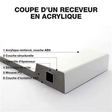 receveur en acrylique oxalys largeur100 cm plat