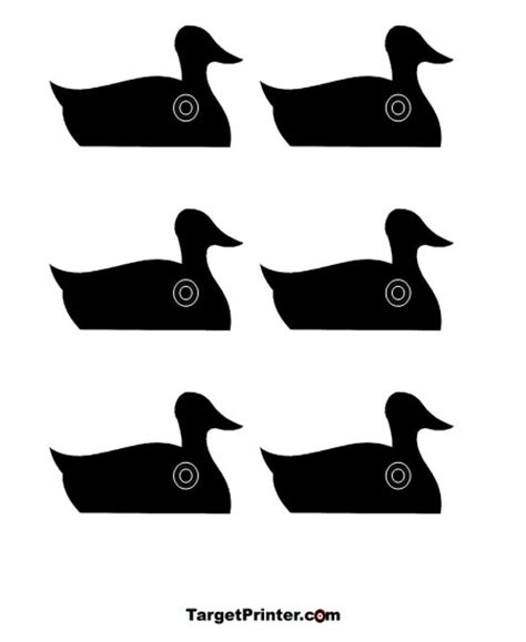 printable animal silhouette targets printable small ducks shooting target