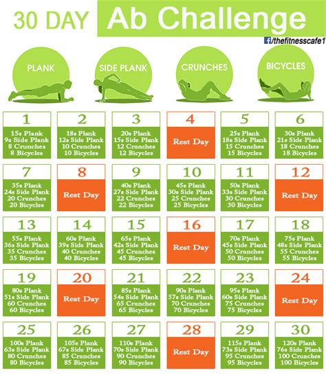 30 day workout challenges choose your 30 day workout challenge 20 infographics