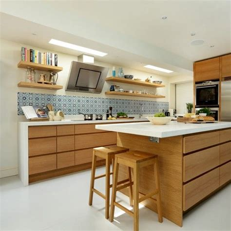 oak kitchen ideas 20 cool modern wooden kitchen designs bespoke open shelving and design