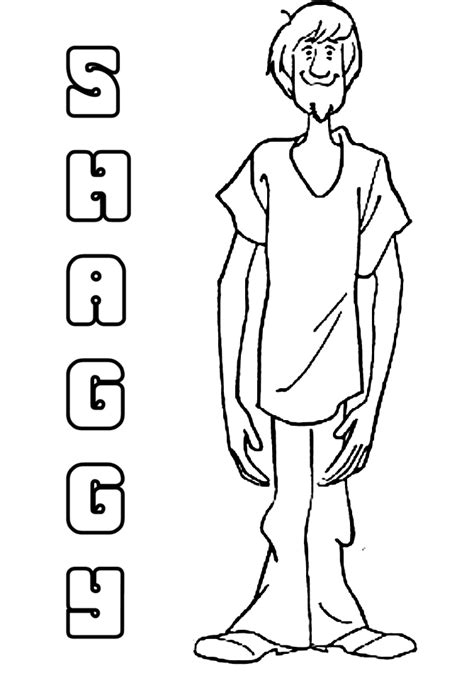 Shaggy Coloring Page scooby doo and shaggy coloring pages coloring home