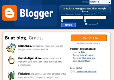 membuat blog terkenal di google website aku