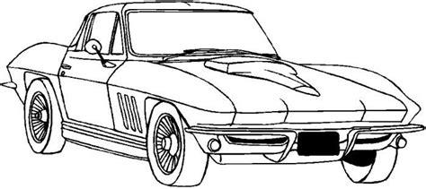 corvette coloring pages corvette classic coloring page corvette