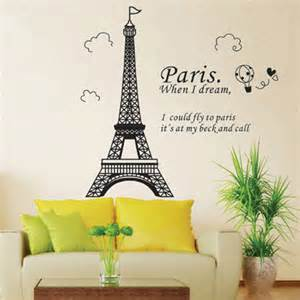 eiffel tower wall sticker removable decal room wall