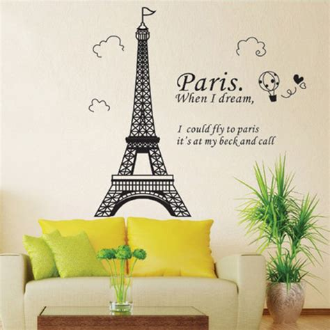 Eiffel Tower Room Decor Eiffel Tower Wall Sticker Removable Decal Room Wall