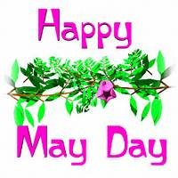 Happy May Day Flower Blossom Animated Picture