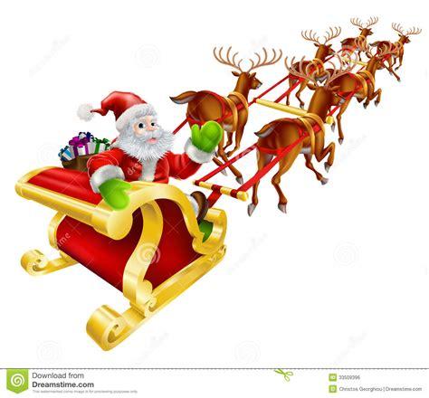 imagenes santa claus en trineo vuelo de santa claus de la navidad en trineo ilustraci 243 n