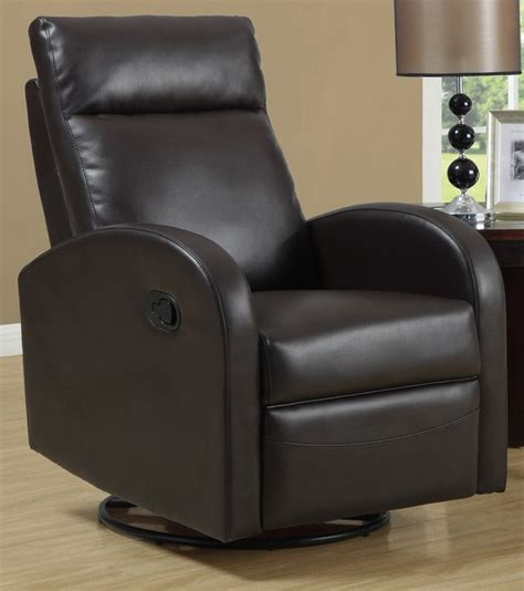 Swivel Rocker Chairs For Living Room Swivel Rocker Recliner Brown Contemporary Living Room Chairs By Shopladder