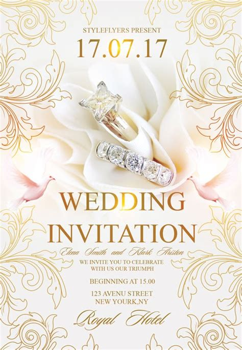 Free Wedding Invitation Flyer Template Download Flyer Templates Invitation Flyer Templates
