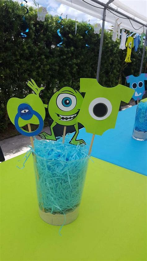 monsters inc baby shower centerpieces best 25 monsters inc baby ideas on