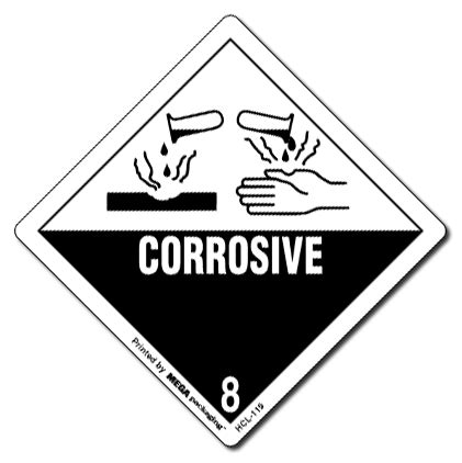printable corrosive label 4 quot x 4 quot corrosive 6 labels d o t labels miller supply
