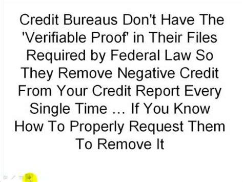how to remove all negative credit items legally