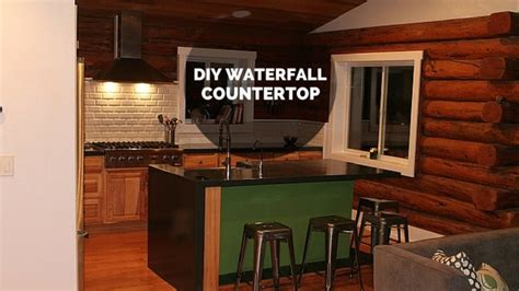 diy wood waterfall countertop diy waterfall countertop thehomesteadingboards