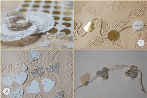 Wedding Paper Crafts - diy wedding decorations doily flower wedding garland