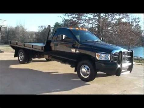 flat bed for sale 2010 dodge ram 3500 slt cummins diesel 4x4 flat bed for