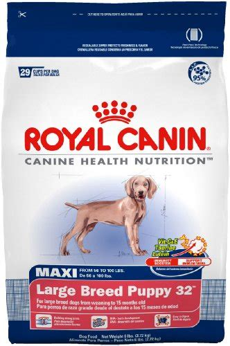 royal canin large breed puppy food low price on royal canin food maxi large breed puppy 32 formula 35 pound