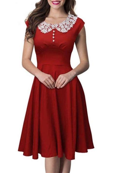 1950 s swing dresses vintage swing midi dress women 1950s vintage knee length