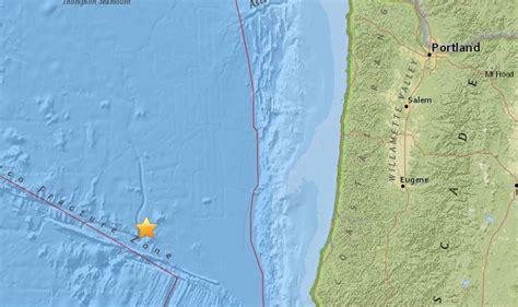 earthquake oregon earthquake recorded off central oregon coast kgw com
