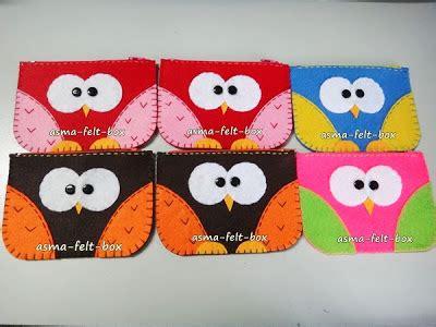 Owl Coin Pouch Dompet Boneka Burung Hantu 4 projek ramadhan 6 felt coin purse bercorak owl asma felt box