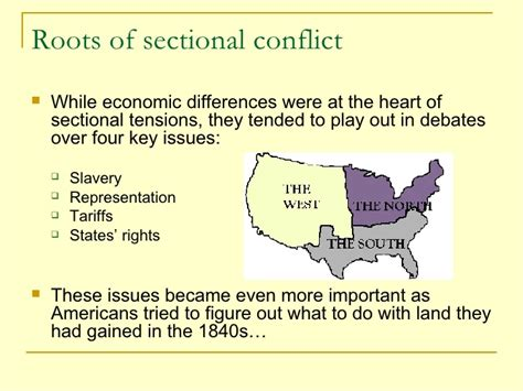 sectionalism civil war rise of american sectionalism