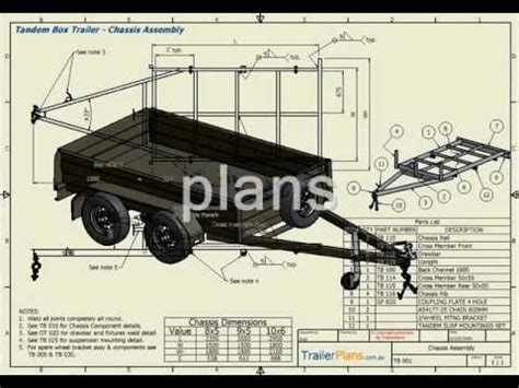 design is one trailer trailer plans plan build save youtube