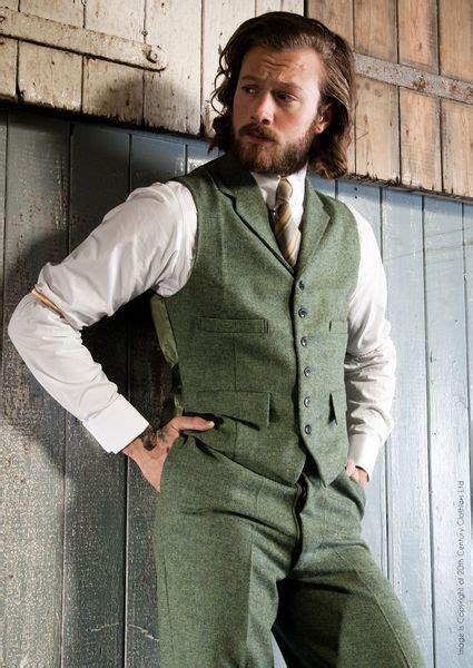 vintage mens tweed vest  pants   century chap