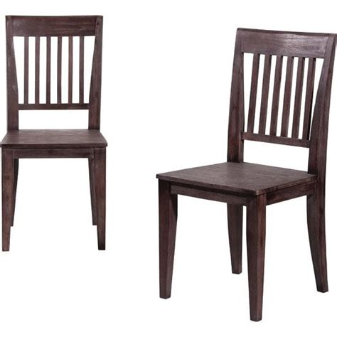 2x wooden dining chairs homehighlight co uk