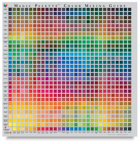 color mixing chart magic palette artist s color selector and mixing guide