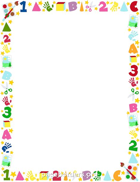 free childrens clipart preschool borders clipartion