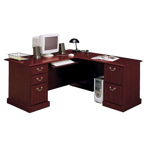 L Shaped Desk Computer Bush Saratoga L Shaped Computer Desk Desks At Hayneedle